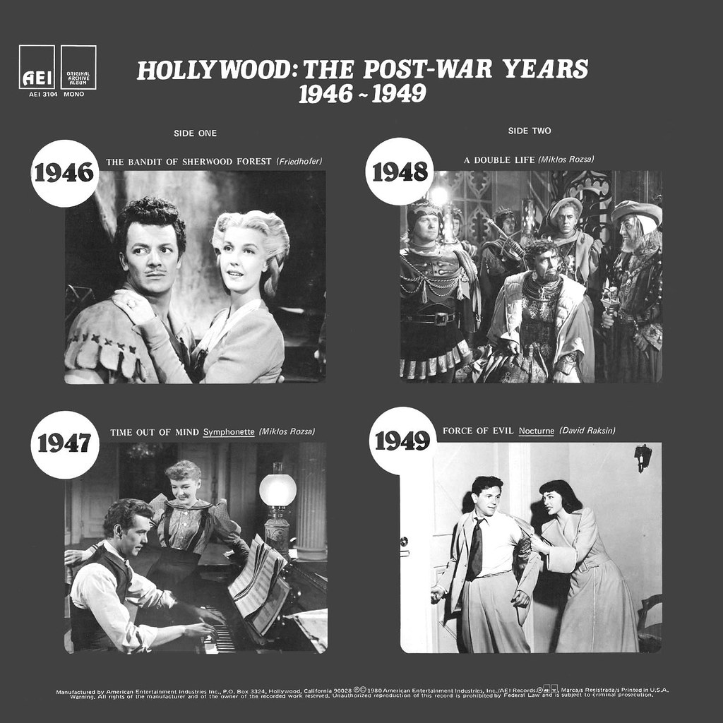 Various Artists - Hollywood: The Post-War Years