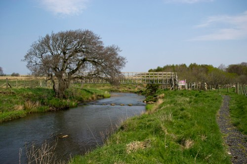 The bridge into Airds Moss