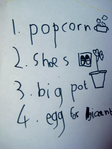 Literacy Ideas Shopping Lists
