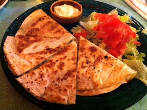 Quesadilla from Imagine Vegan Cafe, Memphis, Tenn.