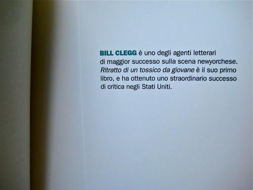 """Bill Clegg, Ritratto di un tossico da giovane, Einaudi 2011; progetto grafico di Riccardo Falcinelli; """"in copertina: Foto © Joerg Steck/Gallerystock; risvolto della q. di cop. (part.), 1"""