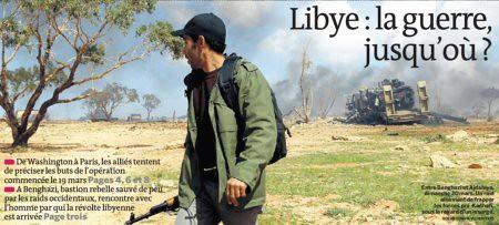 11c21 Le Monde Primera página Libia la guerra hasta donde