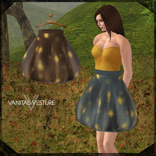Vanitas Vesture - Polite Starry Skirts for Disco Deals