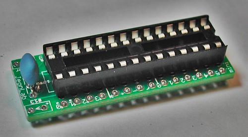 JeonLab mini v1.3 28-pin dip socket and resonator soldered