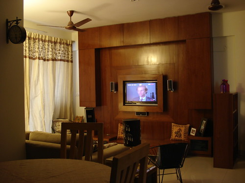 Living room Tv Unit from dining