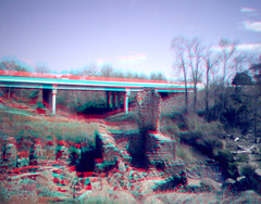 Pelham Mill Ruins Anaglyph