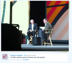 James Cameron and Vince Pace at NAB Show 2011