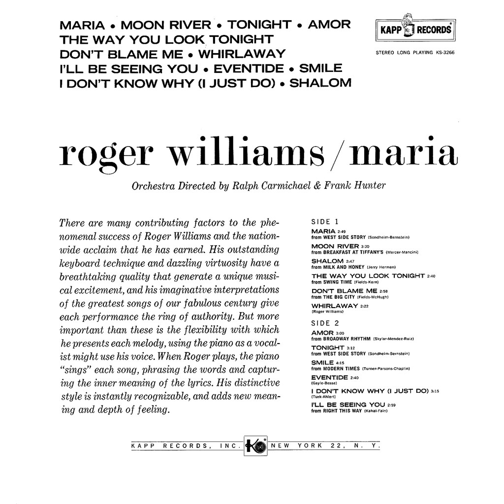 Roger Williams - Maria