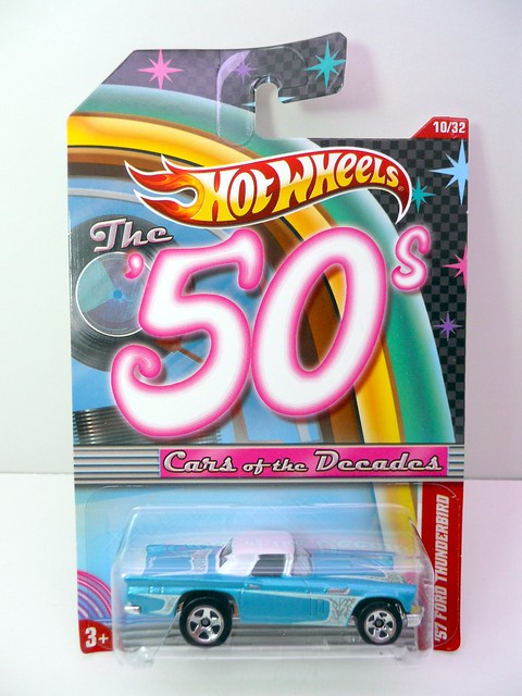 hot wheels cars of the decades '57 Ford Thunderbird (1)