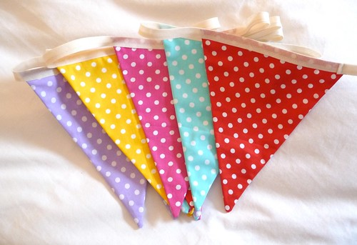 Dotty bunting by Samantha Halliwell