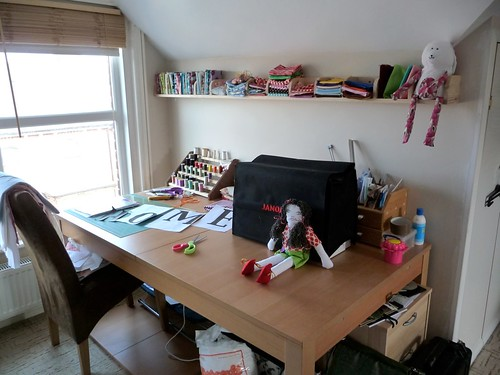 My lil sewing space by Samantha Halliwell