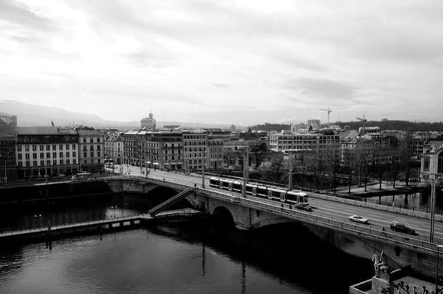 Vistas de Ginebra desde el Mandarín Oriental