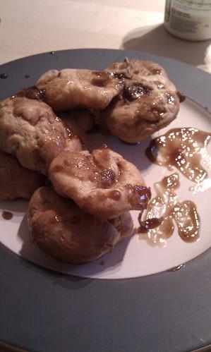 Michael caramel profiteroles. Got eaten before I remembered to photograph them!
