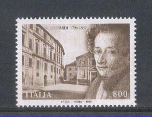 Giacomo Leopardi francobollo commemorativo 1998