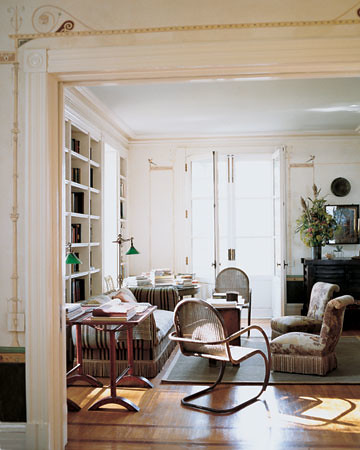 blue ceiling Martha Stewart Living