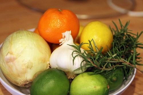 rosemary garlic citrus bowl