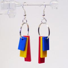 RYB Tile Dangle Earrings 1