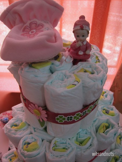 diaper cake topper