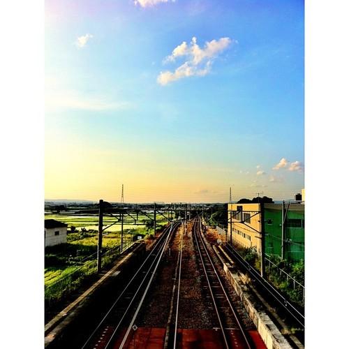 いま空。 これから電車乗って帰りまーす!#sky