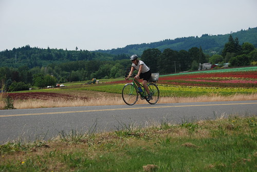 riding on Sauvie Island