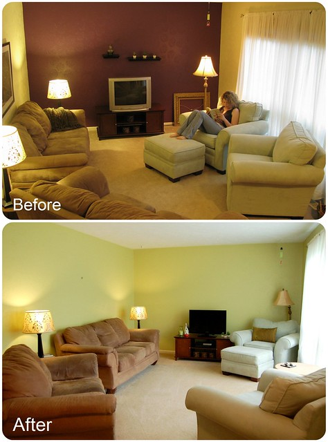 Living Room, Before and After