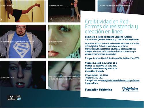 Seminario Cre@tividad en red: formas de resistencia y creación en línea