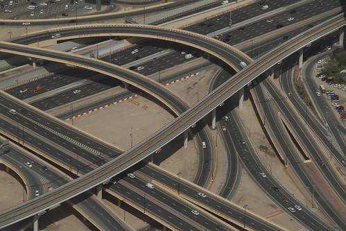 Autobahngewirr in Dubai