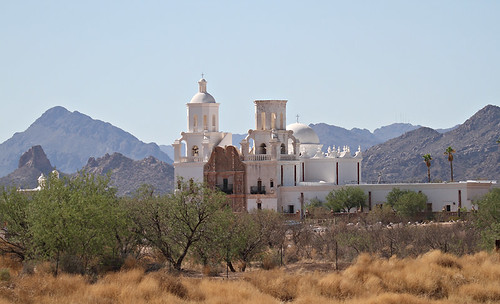 Mission San Xavier del Bac by SearchNetMedia
