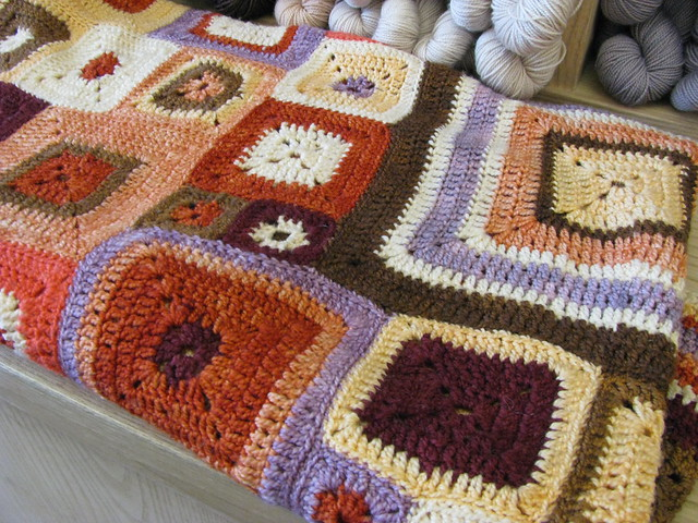 Crocheted Blanket at Purl Soho