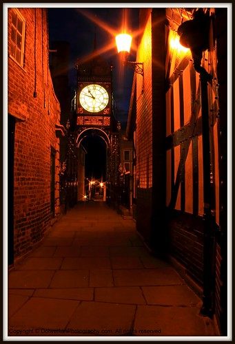 Chester , Eastgate and Eastgate Clock by Dolwolfian