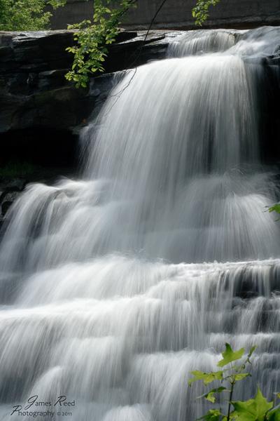 Water cascades down the Brandywine falls.