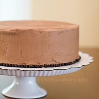 Chocolate Cake with Dark Chocolate Swiss Meringue Buttercream, aka My Favorite Chocolate Cake