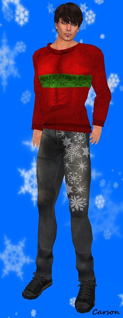 22769 Christmas jumper and Vintage Jeans