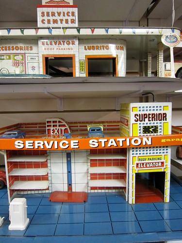 Vintage Toy Service Station