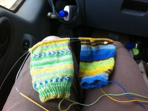 Socks on Two Circular Needles