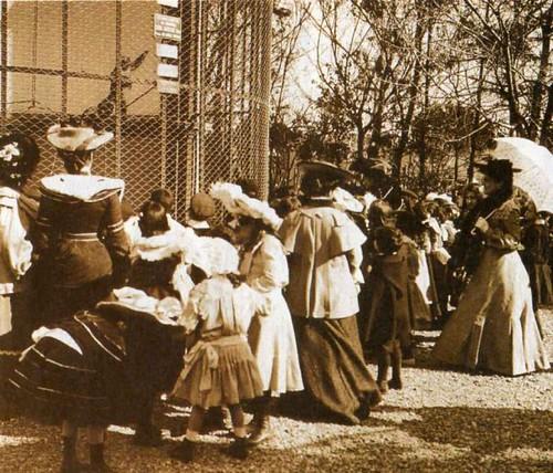 Zoológico de Buenos Aires - Jaula de los monos - 1905 by la hipatia