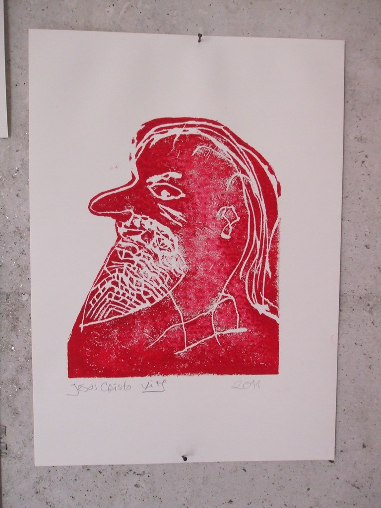 O primeiro linolei do meu marido* / My husband first linocut*