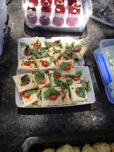Helen's tomato and basil tartlets