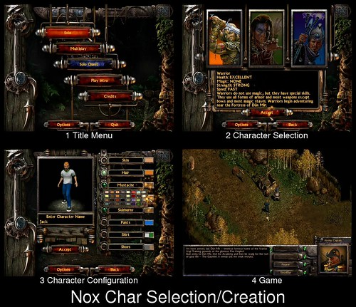 Character Selection in Nox