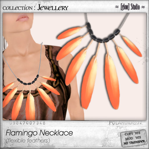 [ glow ] studio - Flamingo necklace