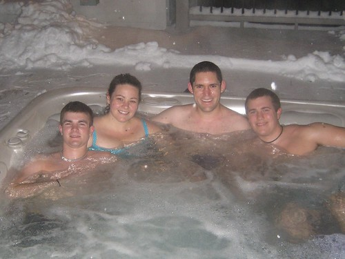 Hot Tubbing in the Snow