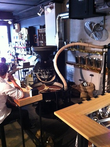 30kg roaster at the Di Bella Roastery