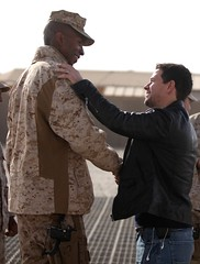 Mark Wahlberg visits troops in Afghanistan [Im...