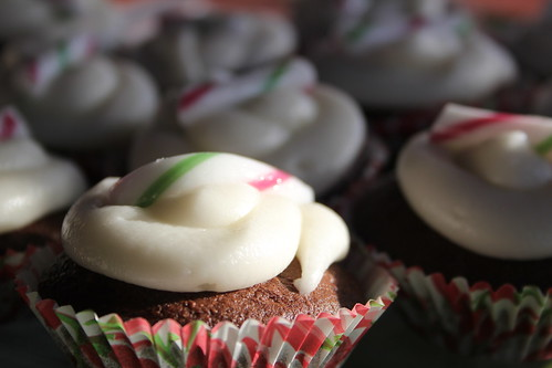 Thursday: Choc-Candy-Cane Cupcakes for work