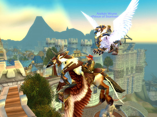 Spennix and the Prince, over Stormwind