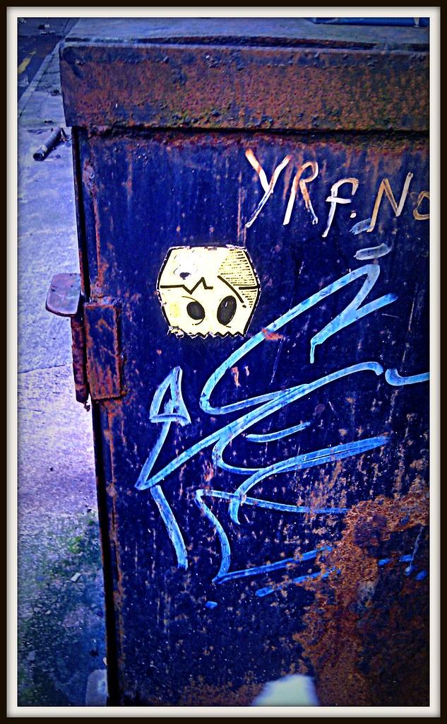 D-Fault Graffiti in Cardiff.