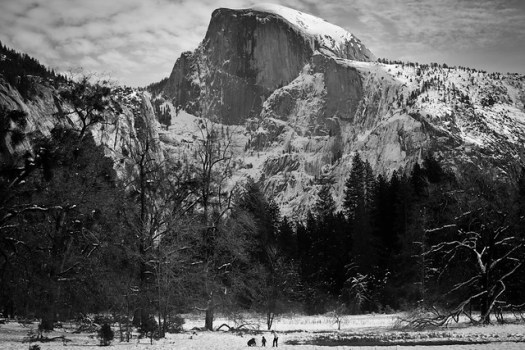 Half Dome with Family from Cook's Meadow - Yosemite by Scott Loftesness