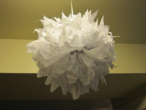 White & Silver Pompom