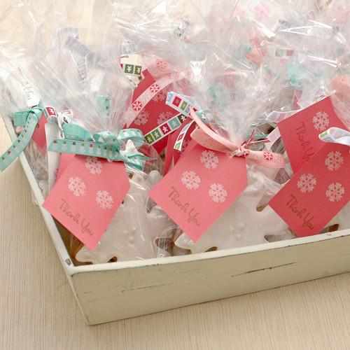 Gingerbread Snowflake Party Favors
