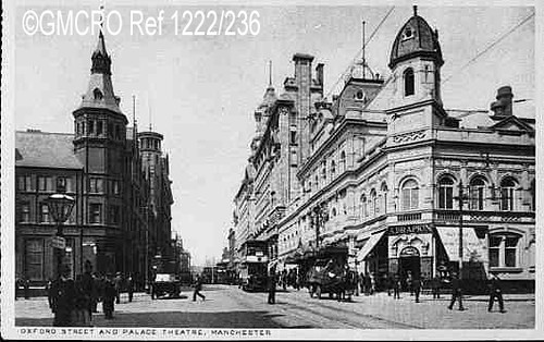 Oxford Street and the Palace Theatre, Manchester, n.d. (GB124.DPA/1222/236).